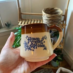 Home sweet home vintage coffee mug